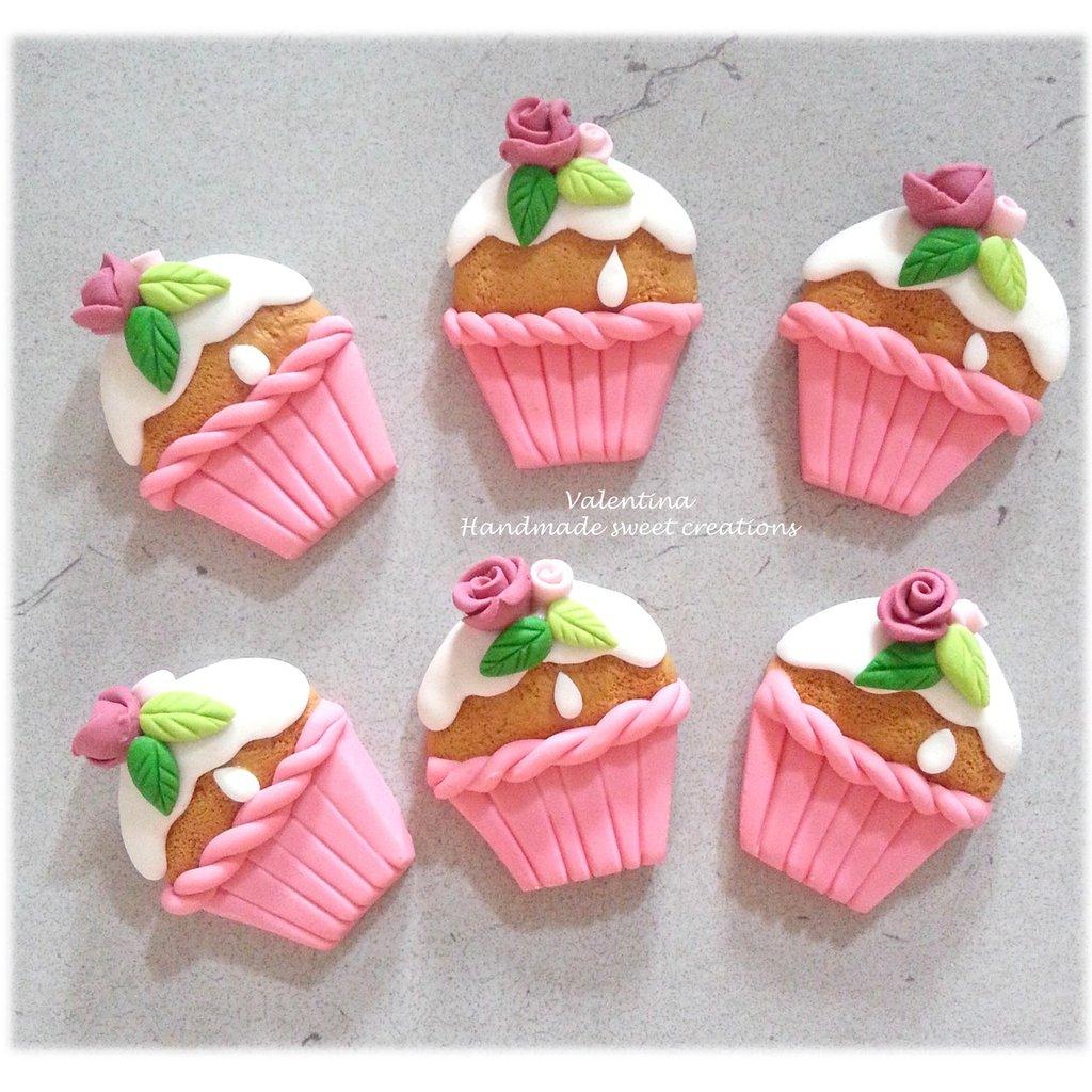 Bomboniera cup cake muffin Battesimo Comunione Segnaposto Matrimonio