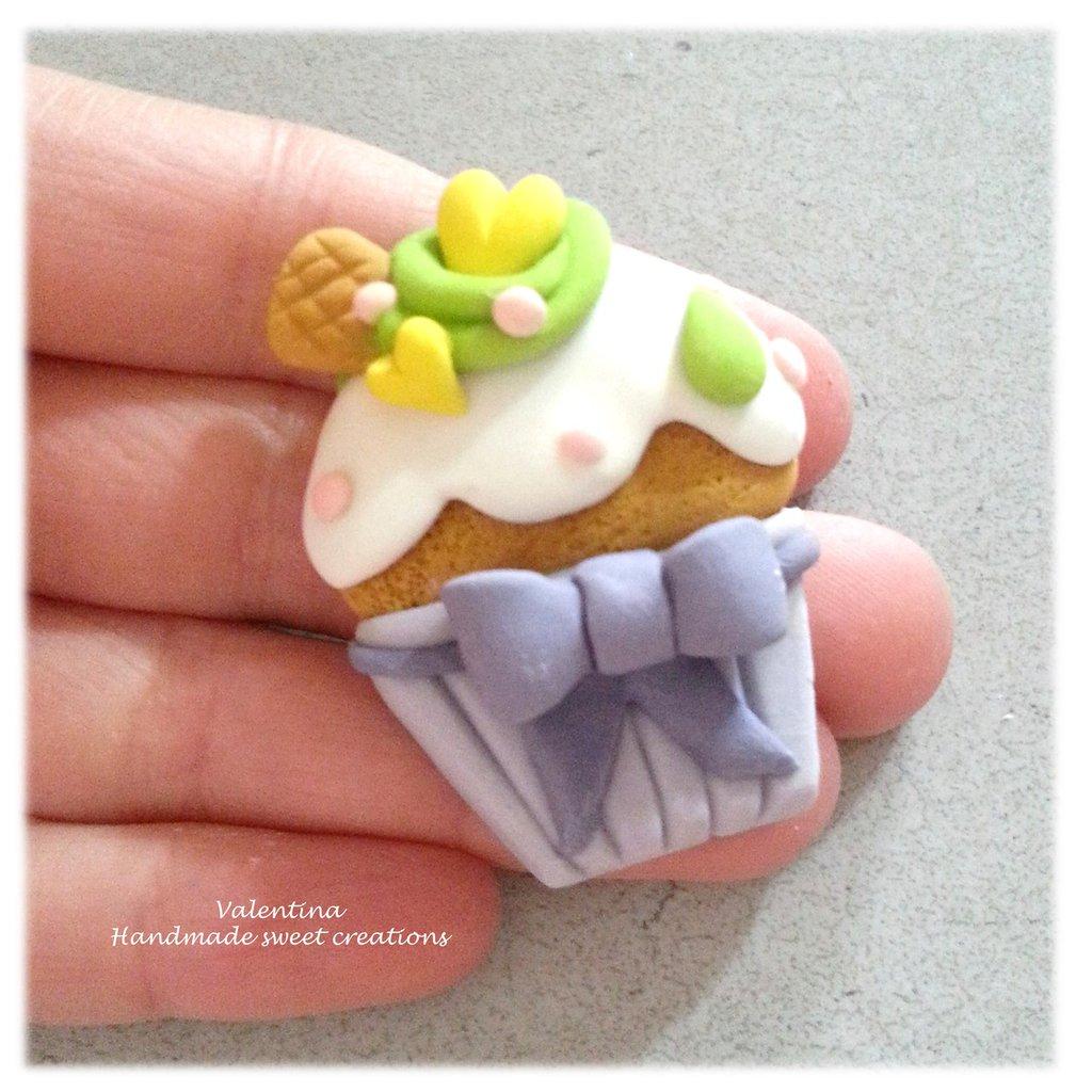 Cupcake Matrimonio Segnaposto.Magnete Muffin Bomboniera Nascita Battesimo Comunione Segnaposto