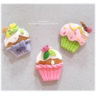 calamita cupcake muffin bomboniera segnaposto matrimonio battesimo comunione