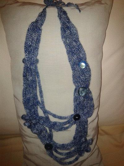 Carta Azzurra - Collana in tricotin di lana