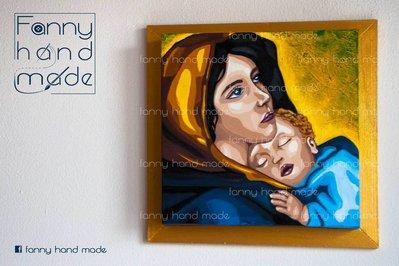 Dipinto su tela - madonna con bambino