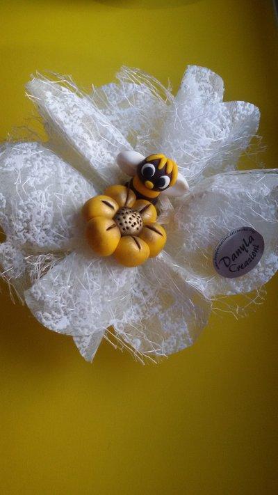 Bomboniera apetta con fiore