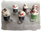 Portachiavi dolciosi -  miniatura di cupcake o gelato