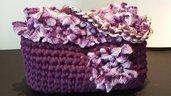 Borsa in fettuccia e lana Vega. Collezione Autunno Inverno 2015