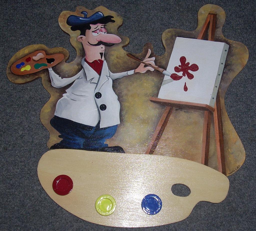Quadro per cucina in legno realizzato e dipinto a mano