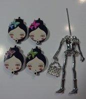 Kit di Bambola Gioiello da Creare - Scegli il colore che desideri - LA RAGAZZA DELLE FARFALLE