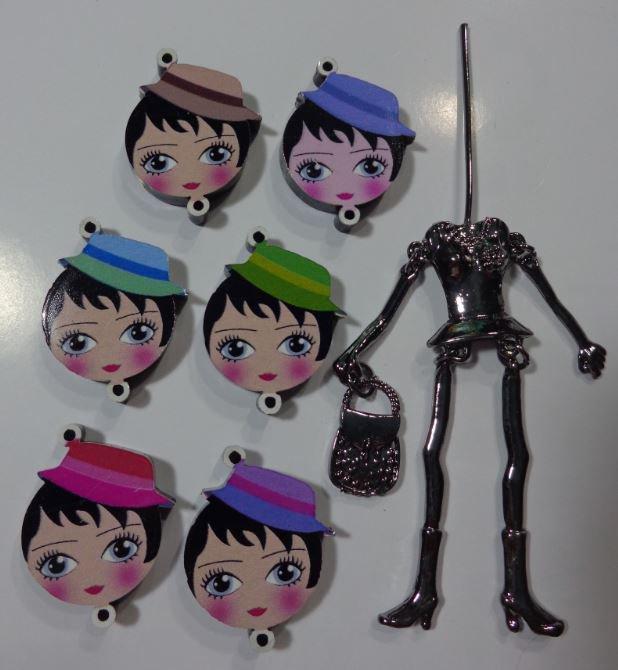 Kit di Bambola Gioiello da Creare - Scegli il colore che desideri - LA PARIGINA