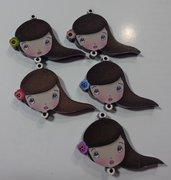 SOLO TESTA IN PLEXI - parte di Kit di Bambola Gioiello da Creare - Scegli il colore che desideri - VENTO NEI CAPELLI