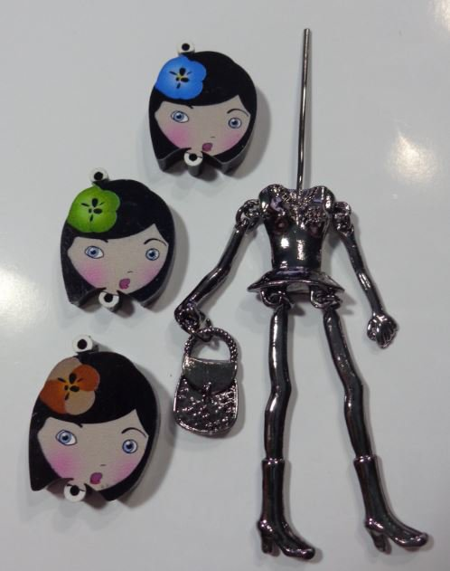 Kit di Bambola Gioiello da Creare - Scegli il colore che desideri - SOLO UN FIORE