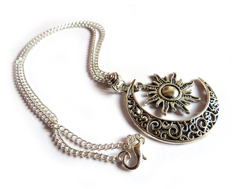 Collana donna Sole & Luna colore argento