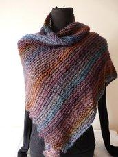 Sciarpa donna in lana fatta a mano