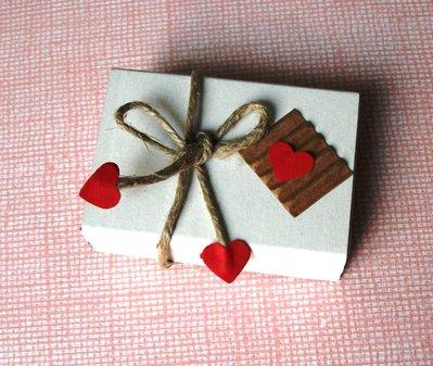Scatoline SegnaPosto - Mini Bomboniera Porta Confetti per Matrimonio - *KraftLove*