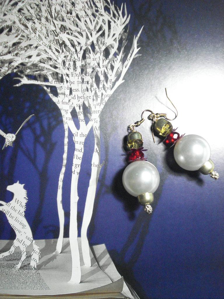 orecchini perle giganti