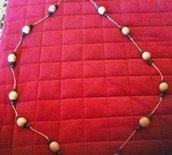 collana in semi e corda homemade