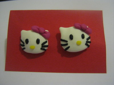 Orecchini a perno Hello Kitty