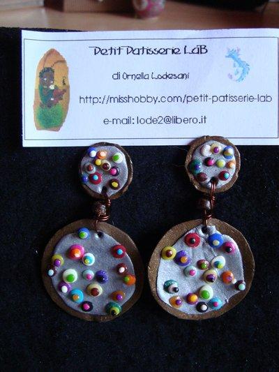 """Orecchini pendenti """"KLIMT"""" color bronzo"""