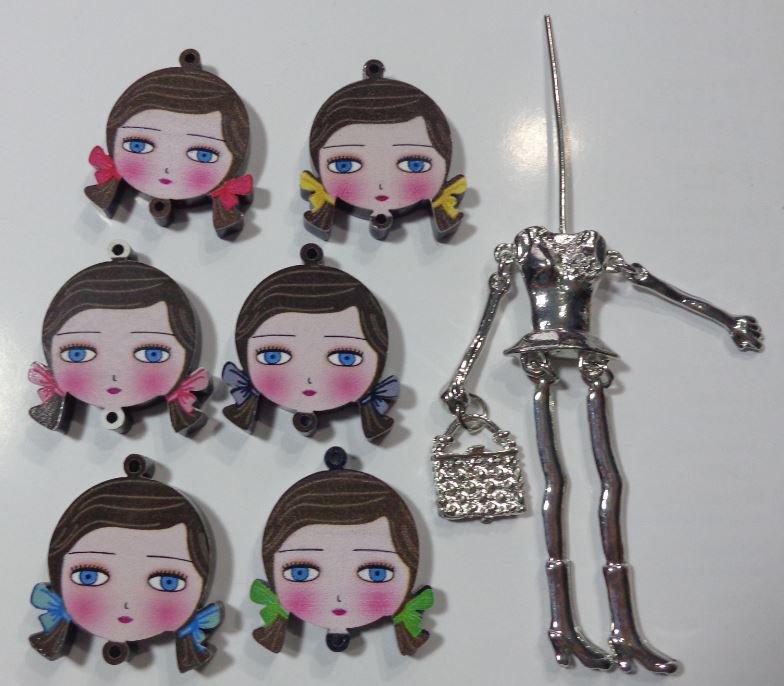 Kit di Bambola Gioiello da Creare - Scegli il colore che desideri - LA SCOLARETTA