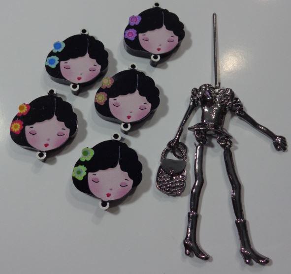 Kit di Bambola Gioiello da Creare - Scegli il colore che desideri - LA RICCIOLA