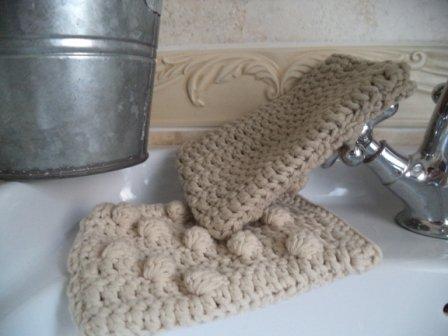 Manopole in cotone per bagno