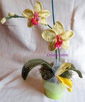 Orchidea Pianta all'uncinetto fatto a mano