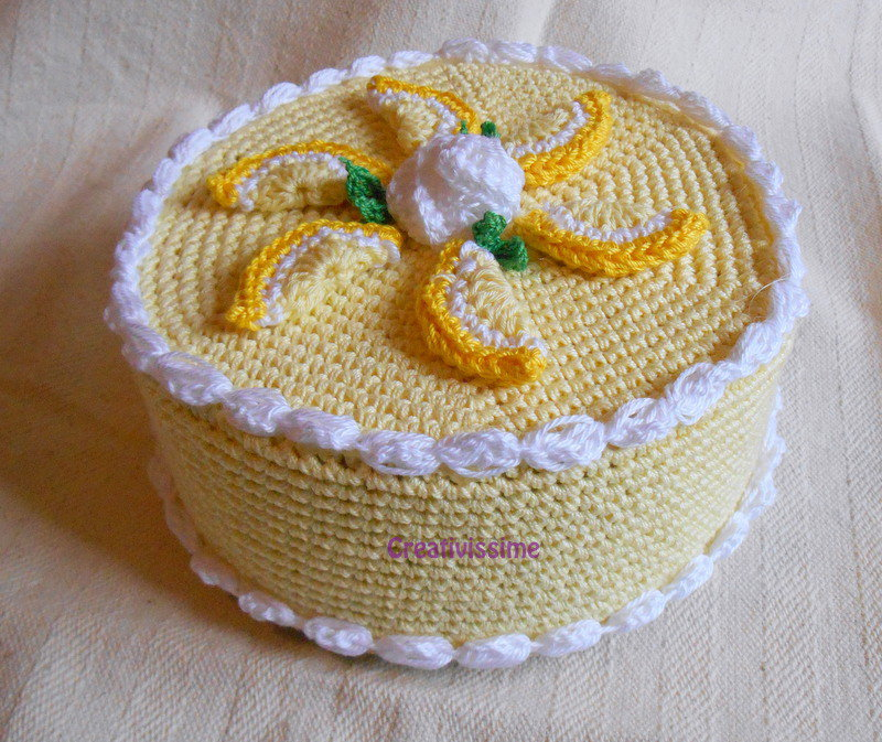 Torta Al Limone Uncinetto Scatola Fatta A Mano Per