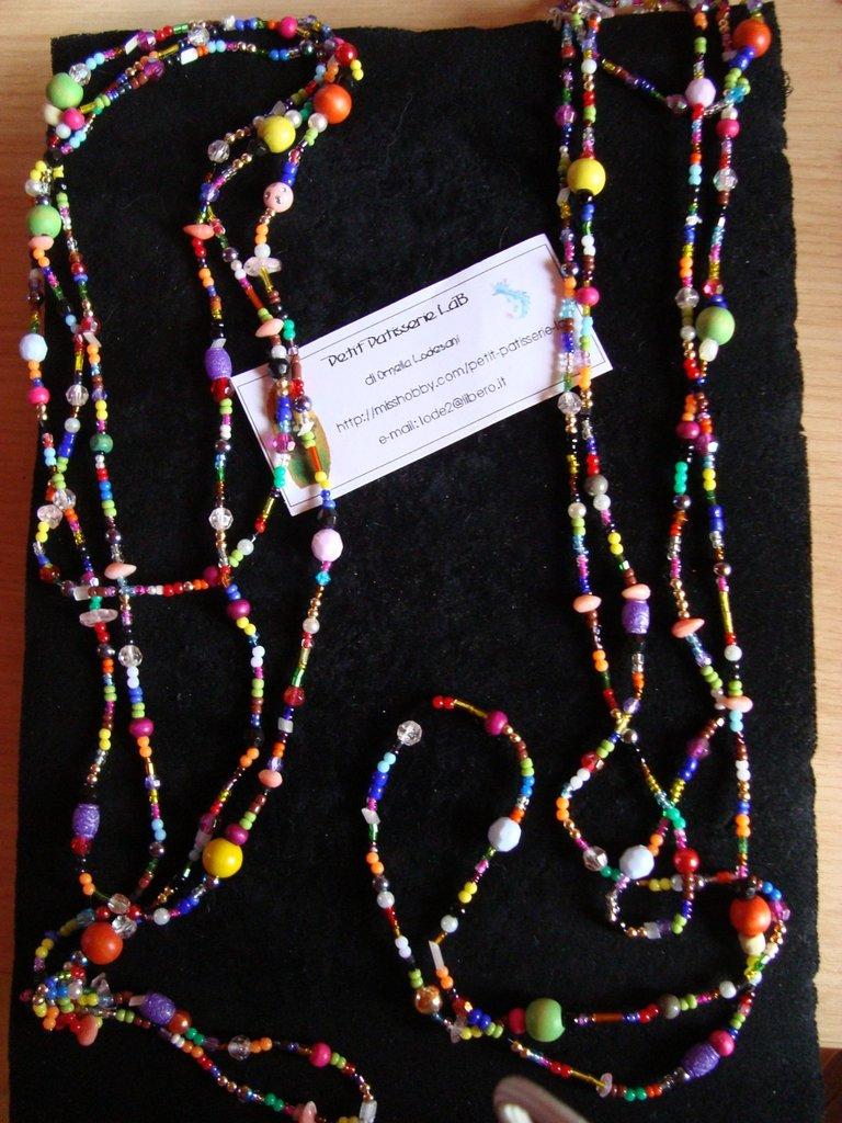 "Collana di perline coloratissime ""Klimt"""