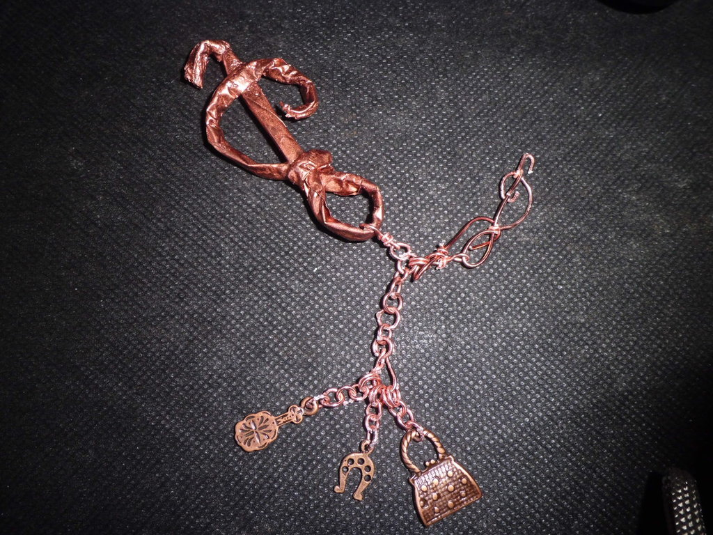 chiave di violino portachiave o accessorio borsa