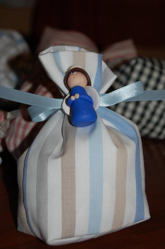 Bomboniera sacchetto con angelo