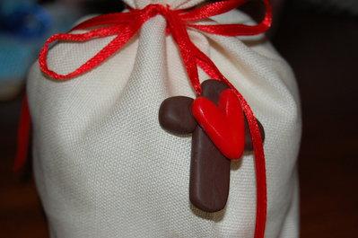 Bomboniera sacchetto con croce