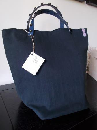 "Borsa ""Tote Bag"" blu scuro"
