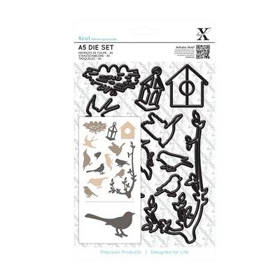 Set fustelle A5 Xcut - Mixed Birds