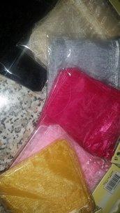 36 Sacchetti di Organza colorati