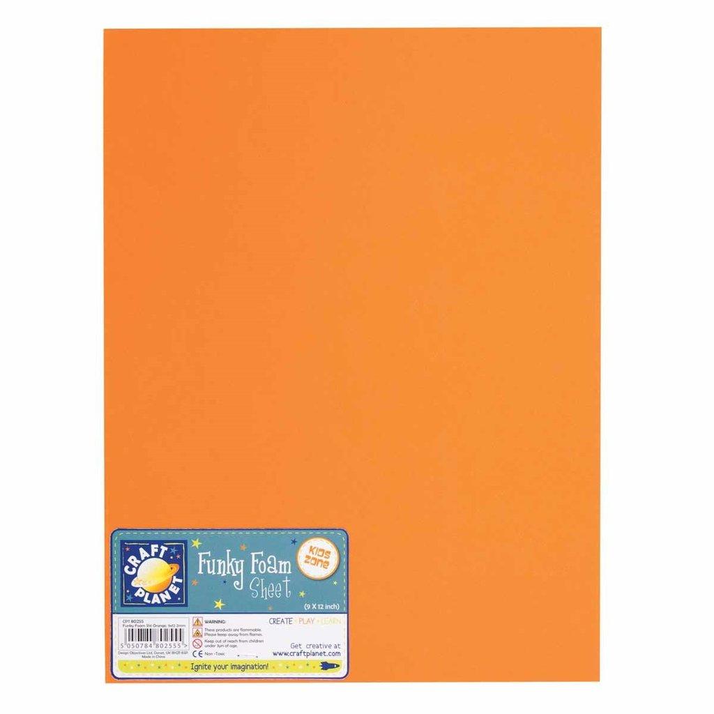 Foglio gomma crepla 23x30 cm - Arancione