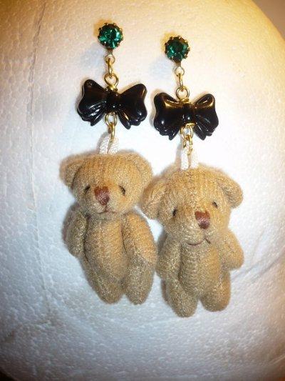 orecchini orsetti.