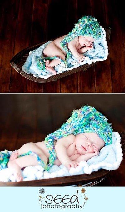 """cappellino per neonato """"elfo"""" prime foto"""
