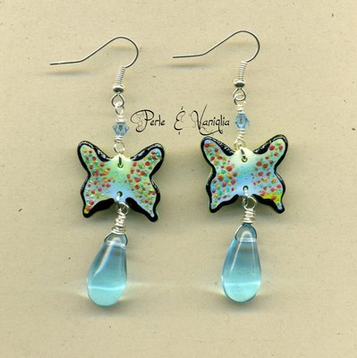 SCONTATI ♥ Bridget ♥ orecchini farfalla
