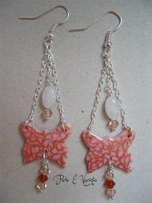 SCONTATI ♥ Peach ♥ orecchini farfalla