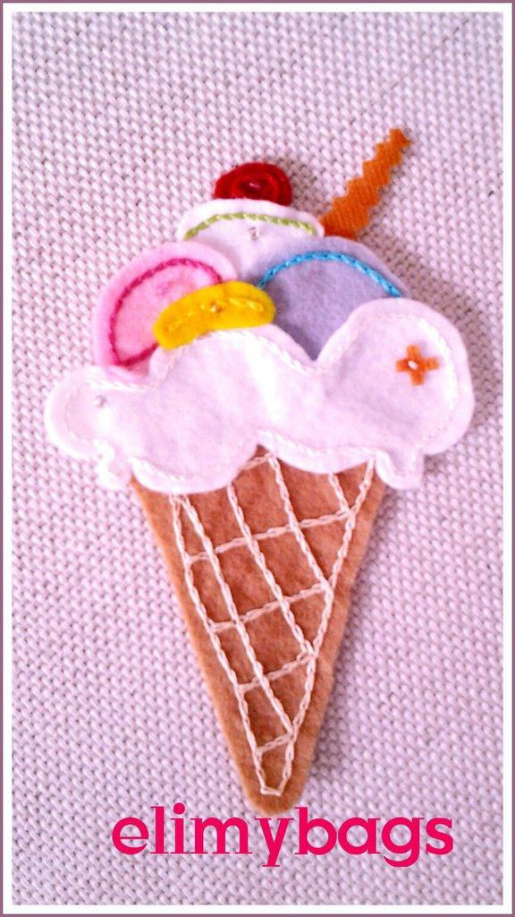Cono gelato pannolenci handmade