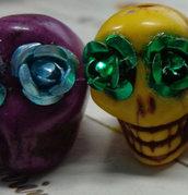 6 Perline Teschio stile Dias de Los Muertos