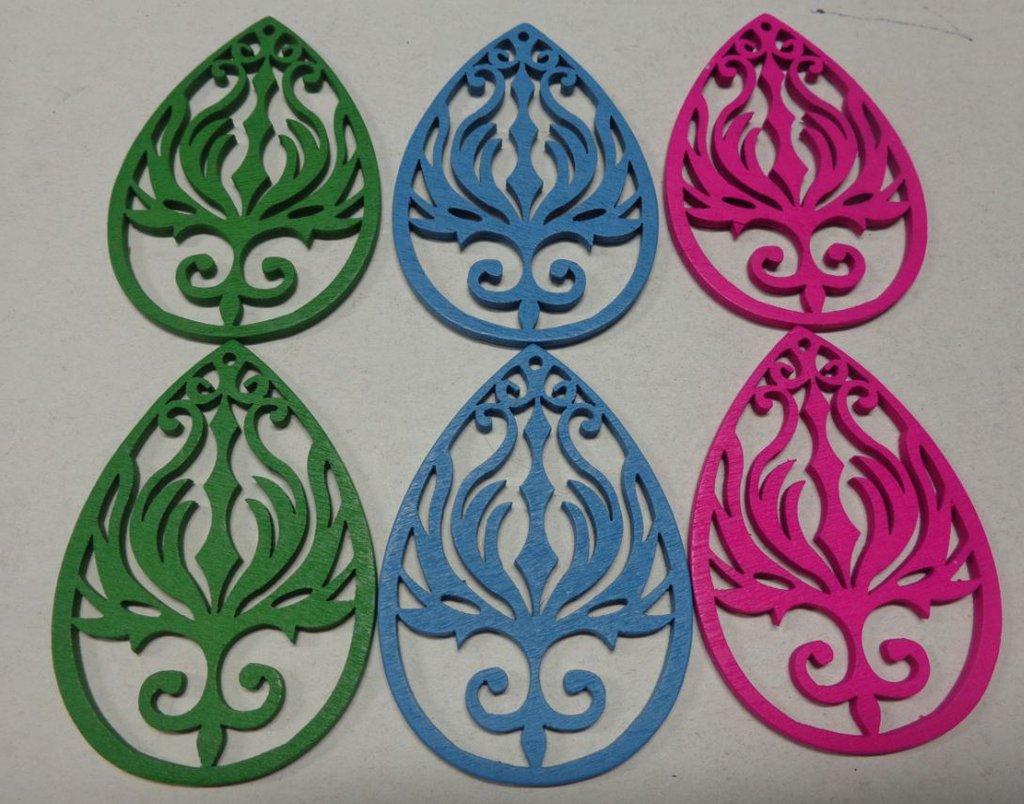 6 pendenti in Legno