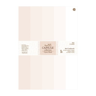 A4 Cardstock Pack - Capsule Oyster Blush