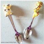 Cucchiaino decorato giraffa fimo- Idea bomboniera matrimonio