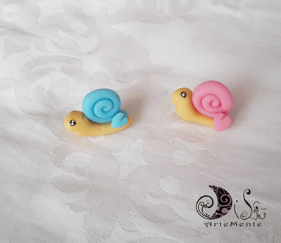 chiudisacchetto chiocciola bomboniera battesimo complemento decorativo fai da te