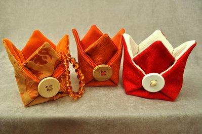 Portaoggetti in tessuto vari colori.