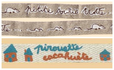 Nastrini  Decorativi -Topolini - Casette  /  Picoti Picota