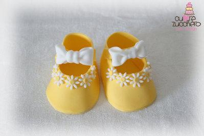 Cake topper scarpette in pdz - shoes sugar paste
