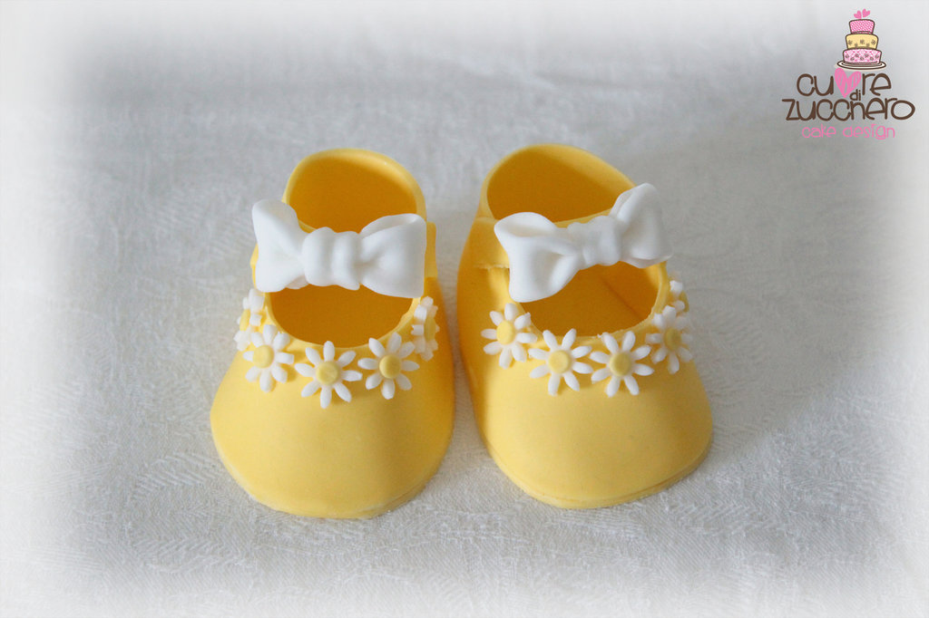Cake topper scarpette in pdz - shoes sugar paste