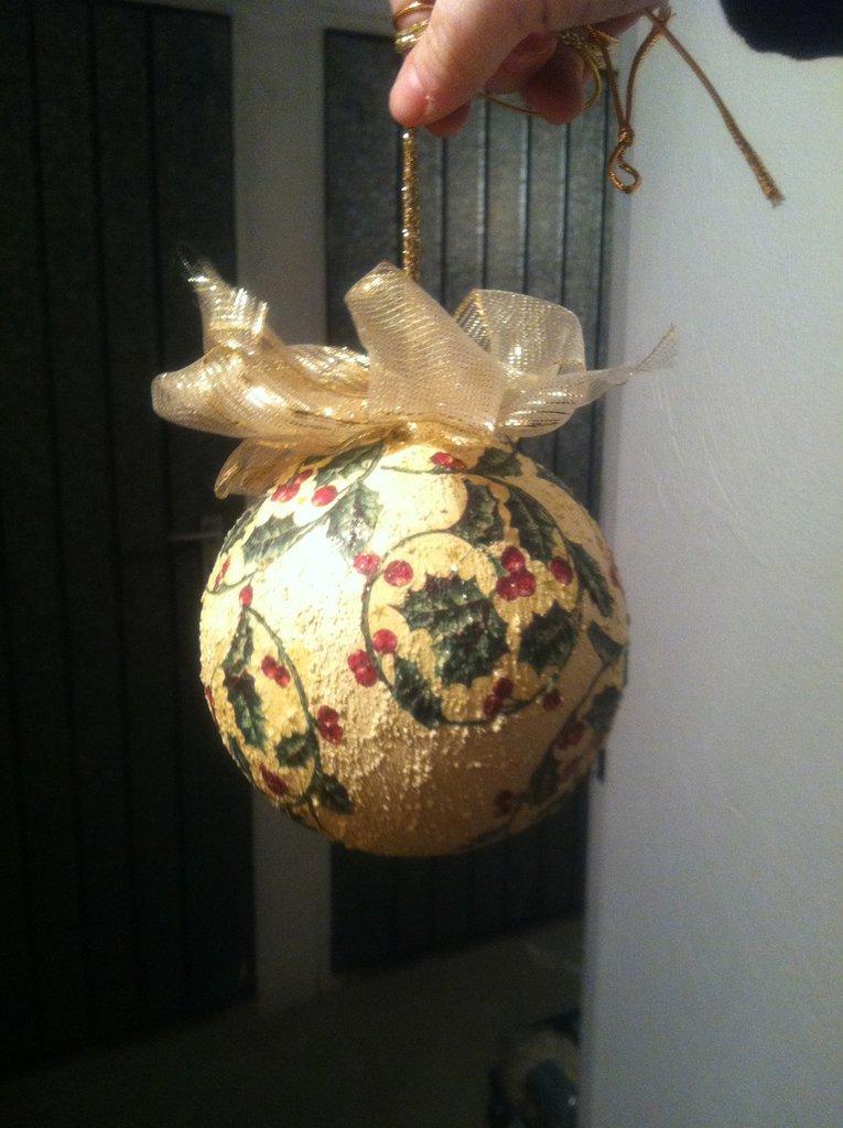 decorazione natalizia decoupage