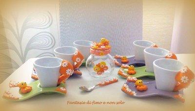 tazze caffè decorate in fimo