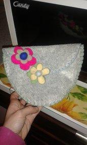 borsa feltro fiori